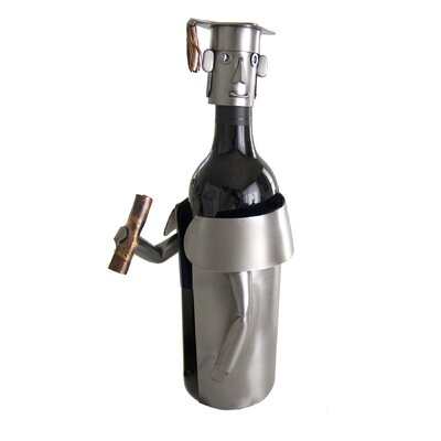 Male Graduate Caddy 1 Bottle Tabletop Wine Rack