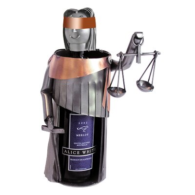 Lady Justice 1 Bottle Tabletop Wine Rack