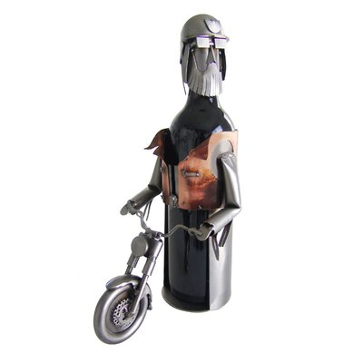 Motorcycle Rider 1 Bottle Tabletop Wine Rack