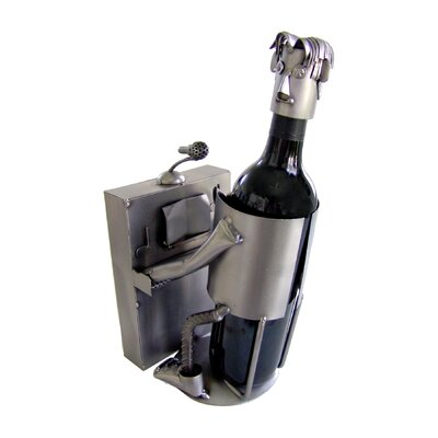 Piano Player Caddy 1 Bottle Tabletop Wine Rack