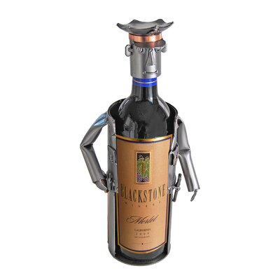 Policeman Caddy 1 Bottle Tabletop Wine Rack