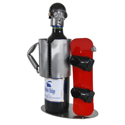 Snowboarder 1 Bottle Tabletop Wine Rack