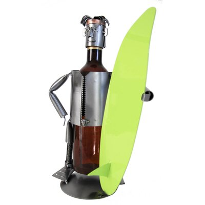 Surfer 1 Bottle Tabletop Wine Rack