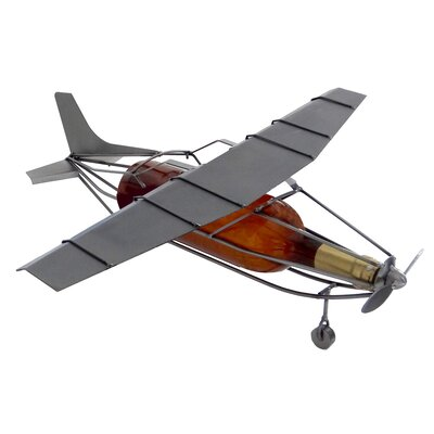 Training Airplane 1 Bottle Tabletop Wine Rack