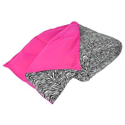 Cozy Nightz Reversible Down Alternative Comforter Color: Zebra/Pink, Size: Full/Queen