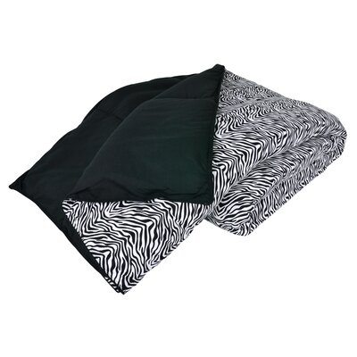 Cozy Nightz Reversible Down Alternative Comforter Size: Twin/Twin XL, Color: Zebra/Black