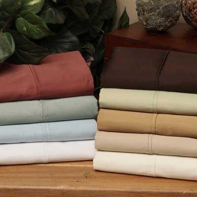 Wrinkle Resistant 300 Thread Count 100% Cotton Sheet Set Color: Cinnabar, Size: Twin