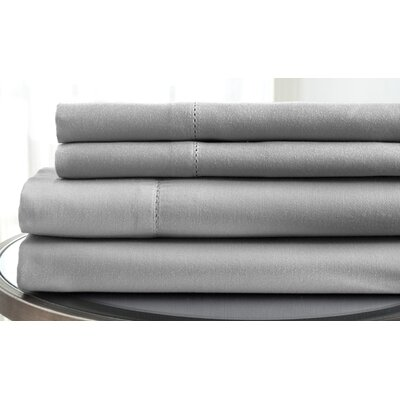 1500 Thread Count Deep Pocket Sheet Set Size: King, Color: Platinum