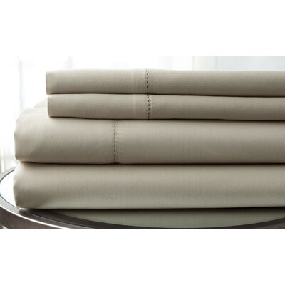 1500 Thread Count Deep Pocket Sheet Set Size: King, Color: Taupe