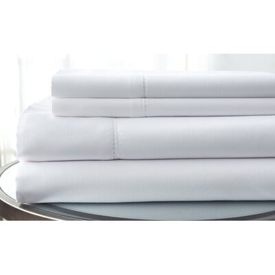 1500 Thread Count Deep Pocket Sheet Set Color: White, Size: Queen