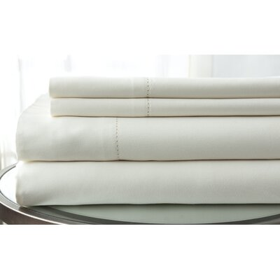 1500 Thread Count Deep Pocket Sheet Set Size: King, Color: Ivory