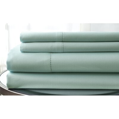 1500 Thread Count Deep Pocket Sheet Set Size: King, Color: Light Blue