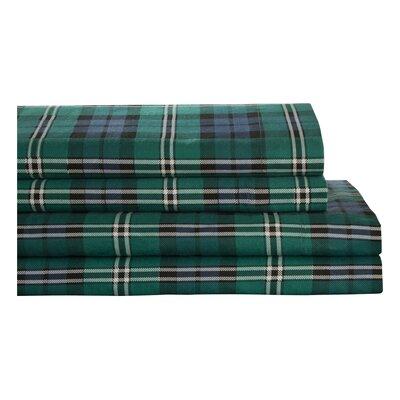 Wildon Home Winter Nights 100% Cotton Flannel Jackson Plaid Sheet Set - Size: Queen