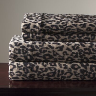 Microfleece Sheet Set Size: Queen, Color: Leopard