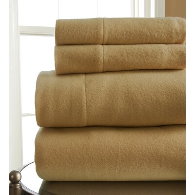 Microfleece Sheet Set Size: Queen, Color: Beige