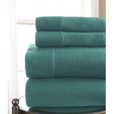 Microfleece Sheet Set Size: Queen, Color: Turquoise