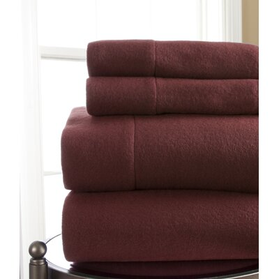 Microfleece Sheet Set Size: California King, Color: Wine