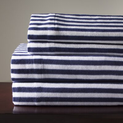 Microfleece Sheet Set Size: Twin, Color: Navy