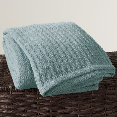 Cotton Throw Color: Aqua