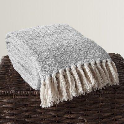 Lakeside Cotton Throw Color: Gray