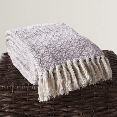 Lakeside Cotton Throw Color: Lavender