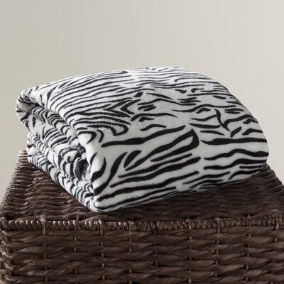 Animal Print Fleece Throw