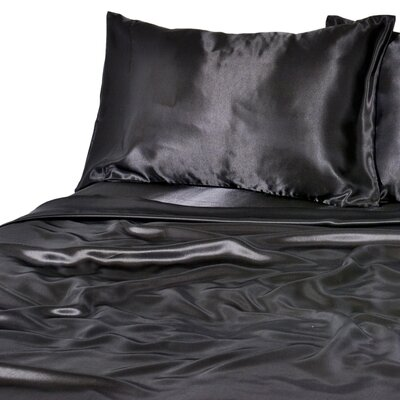 Luxurious Sheet Set Color: Black, Size: Twin