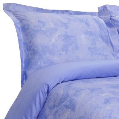 Horizons Reversible Duvet Cover Set Color: Blue, Size: King