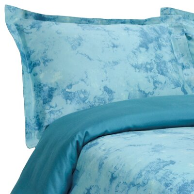 Horizons Reversible Duvet Cover Set Size: Full / Queen, Color: Ocean