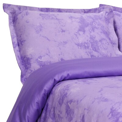 Horizons Reversible Duvet Cover Set Size: Full / Queen, Color: Lilac