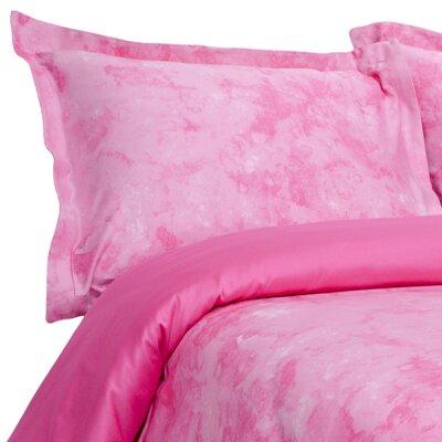 Horizons Reversible Duvet Cover Set Size: Twin, Color: Rose