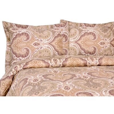 Milano Reversible Duvet Set Color: Mocha, Size: King