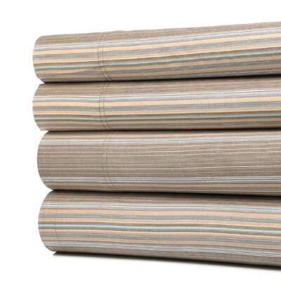 Tuscan Paisley 300 Thread Count 100% Cotton Sheet Set Size: Full, Color: Mocha