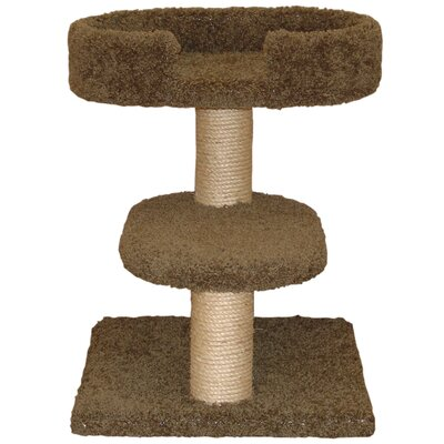 23 Two Tier Cat Tree Color: Coco Brown