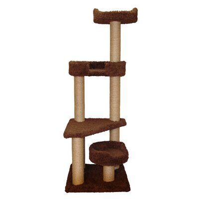 60 Tower Cat Tree Color: Coco Brown