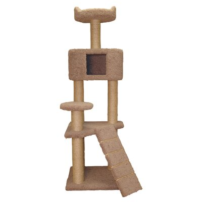 64 Cat Tree Color: Natural Beige