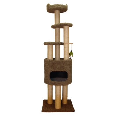 73 Cat Tree Color: Natural Beige
