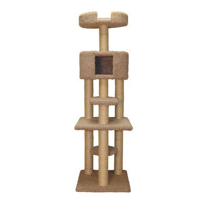 70 Multi Level Cat Tree Color: Sage Green