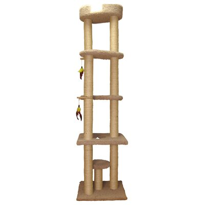 86 Tower Cat Perch Color: Natural Beige