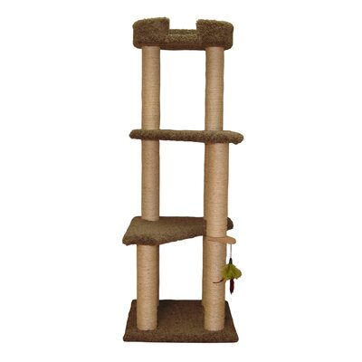 61 Three Story Cat Perch Color: Coco Brown