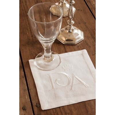"Downton Abbey Napkin Size: 6"" W x 6"" L DN-06NPW"