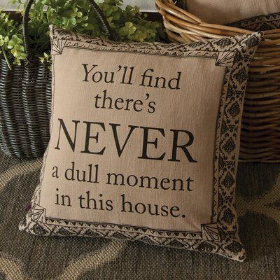 Downton Abbey Never Cotton Throw Pillow