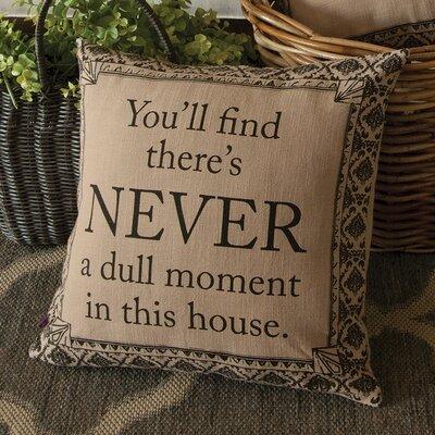 Downton Abbey Never Cotton Throw Pillow