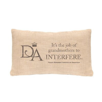 Violets Wisdom Interfere Lumbar Pillow