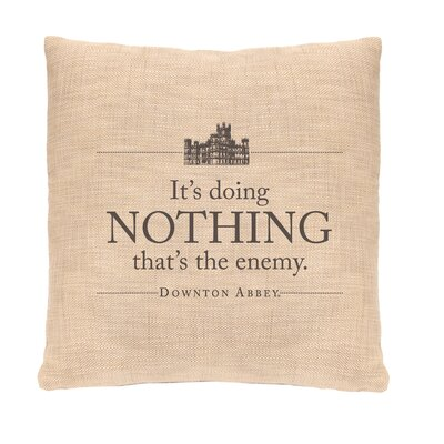 Downton Abbey Nothing Throw Pillow