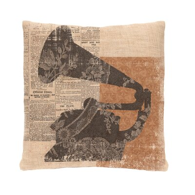 Downton Abbey Gramophone Throw Pillow