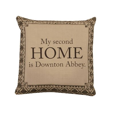 Downton Abbey 2nd Home Cotton Throw Pillow