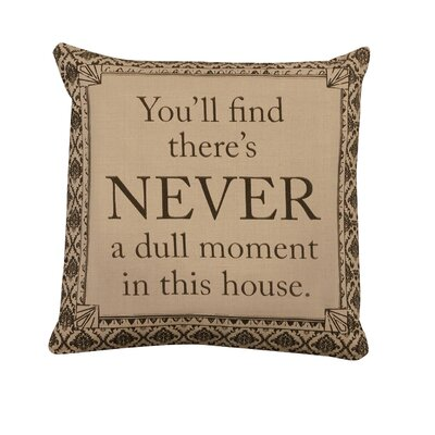 Downton Life Never Pillow Cover