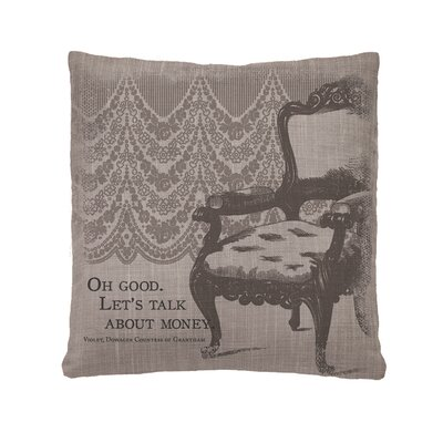 Downton Abbey Talk About Money Throw Pillow