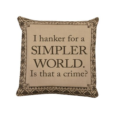 Downton Life Simpler World Pillow Cover